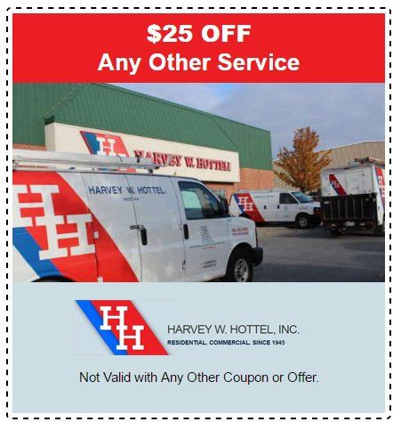 $25 off any service - Harvey W Hottel